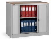 Шкаф офисный ДиКом КД-141 бук светлый (двери серые) разб.