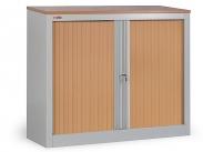 Шкаф офисный ДиКом КД-141 дуб шоколадный (двери бук) разб.