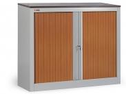 Шкаф офисный ДиКом КД-141 дуб шоколадный (двери вишня) разб.