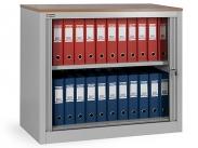 Шкаф офисный ДиКом КД-141 разб. дуб шоколадный (без дверей)