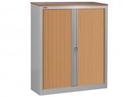 Шкаф офисный ДиКом КД-142 дуб шоколадный (двери бук) разб.