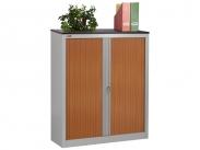 Шкаф офисный ДиКом КД-142 дуб шоколадный (двери вишня) разб.