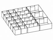 ДиКом Лоток пластмассовый микс (12+6+3) / Комплект-01